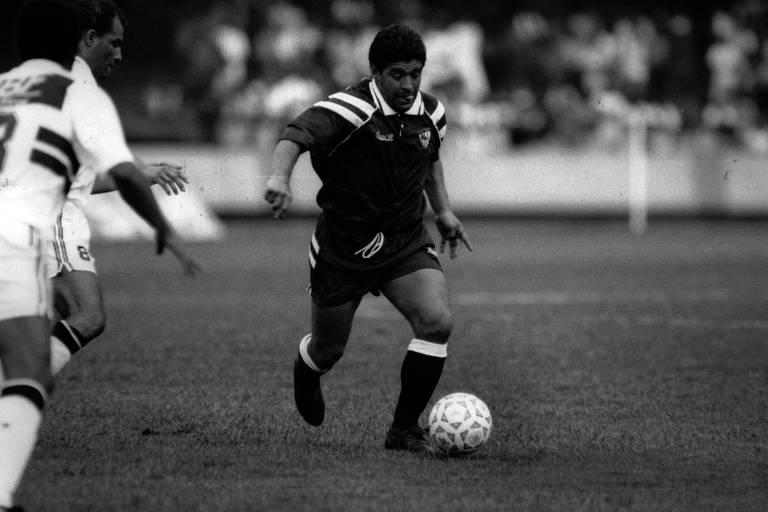 O encontro de Maradona com o Morumbi