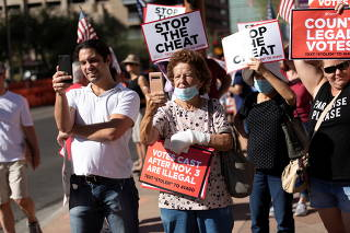 Protests following the U.S. Presidential election, in Phoenix