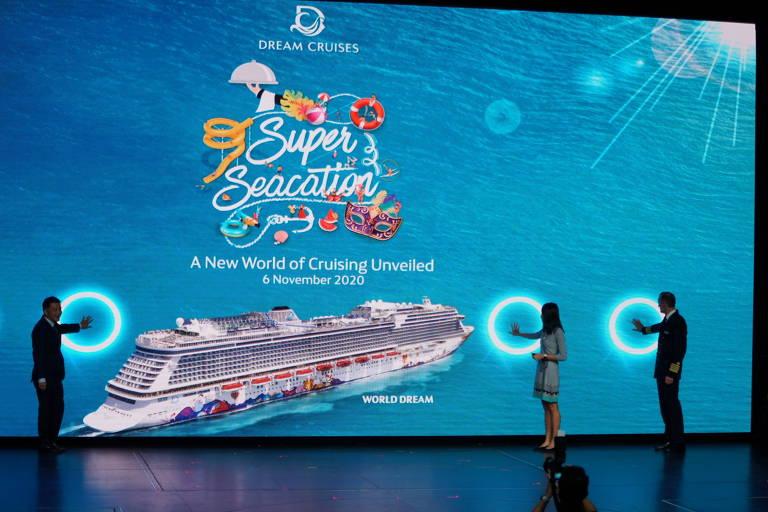 Evento sobre o cruzeiro World Dream, em Singapura