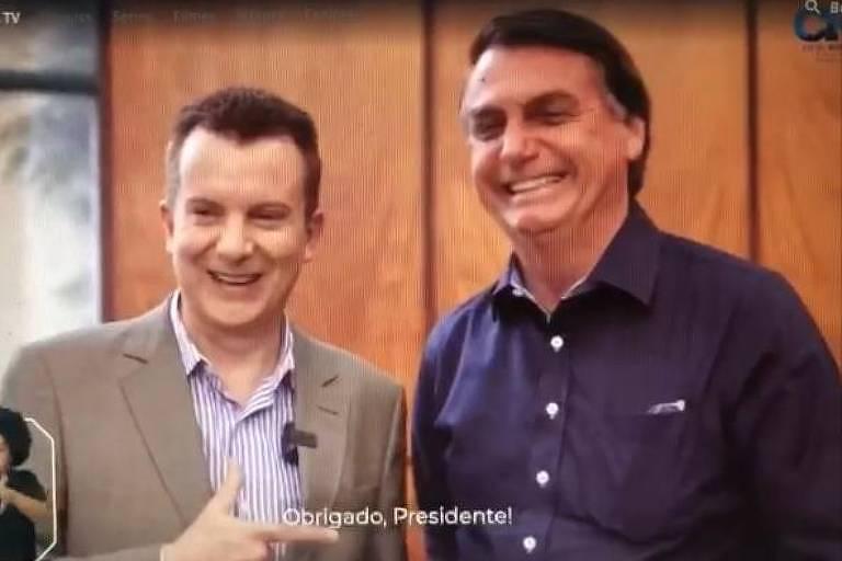 Bolsonaro aparece no programa eleitoral de Russomanno na TV