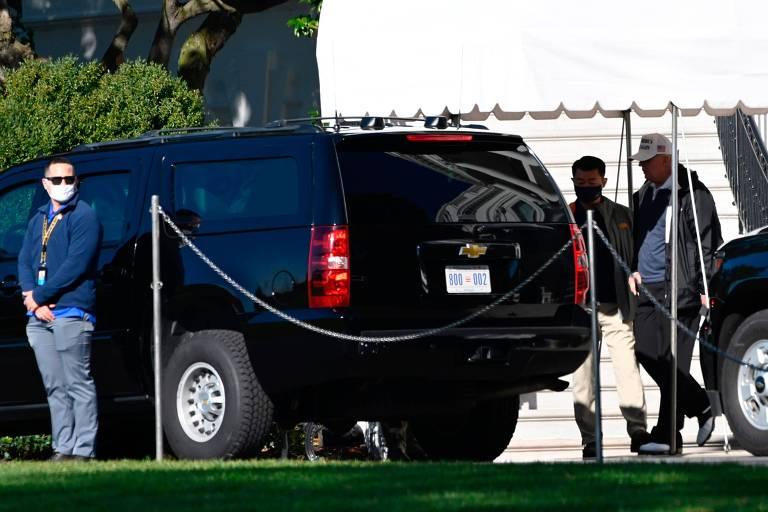 Donald Trump sai para jogar golfe no dia do anúncio da vitória de Joe Biden nos EUA