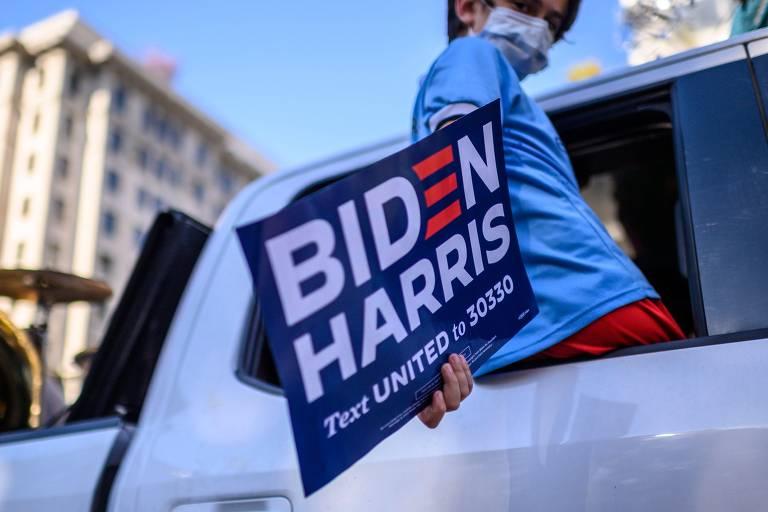 Americanos comemoram nas ruas a vitória de Joe Biden na eleição