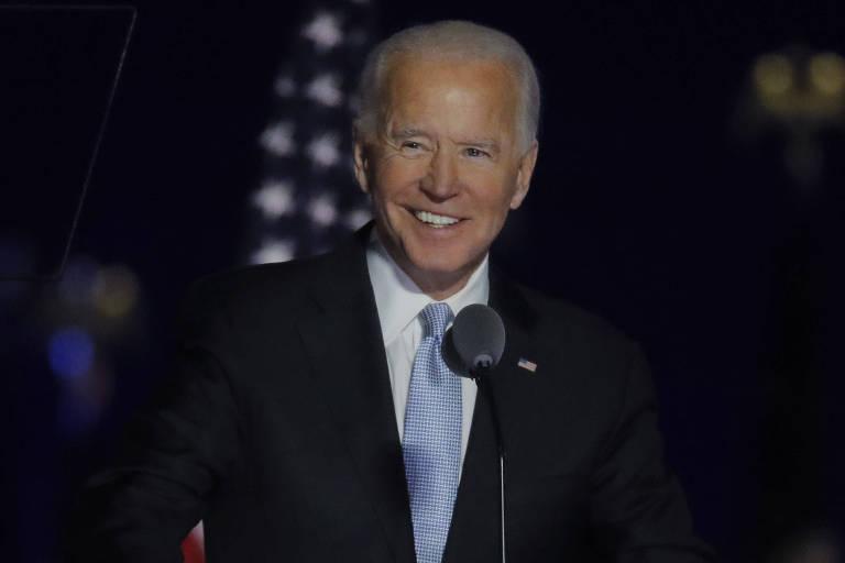 Joe Biden, presidente eleito dos EUA, faz seu primeiro discurso após vitória nas eleições