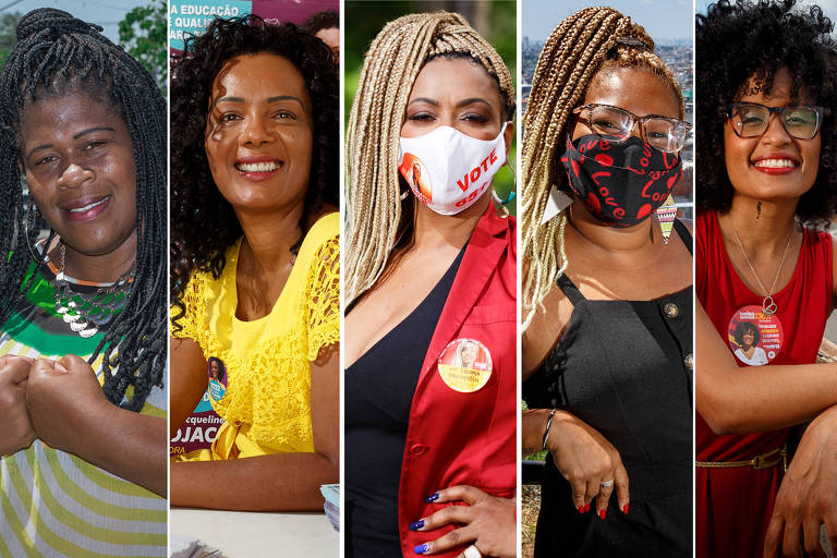Foto Montagem das  candidatas a vereadora