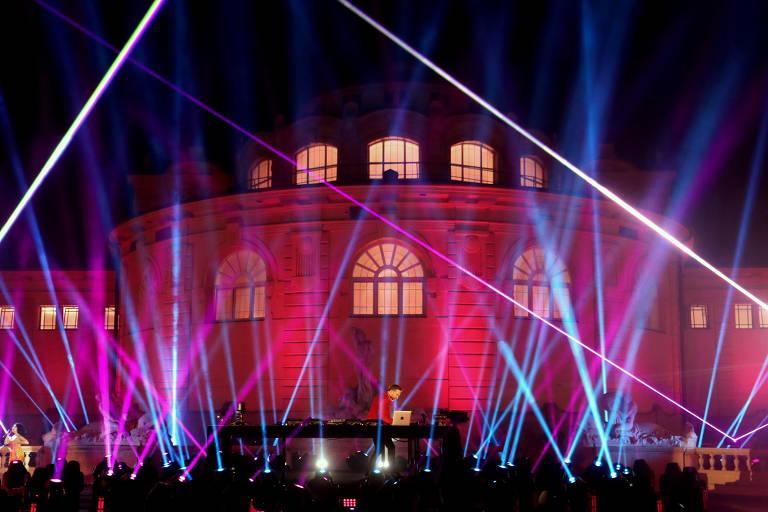 David Guetta se apresenta no MTV EMA 2020 em Budapeste, Hungria