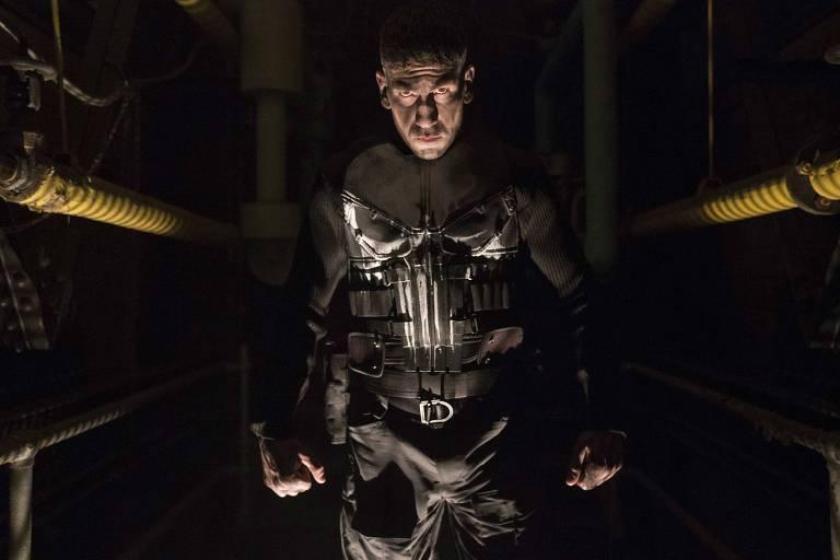 "Jon Bernthal em cena da série ""The Punisher"""