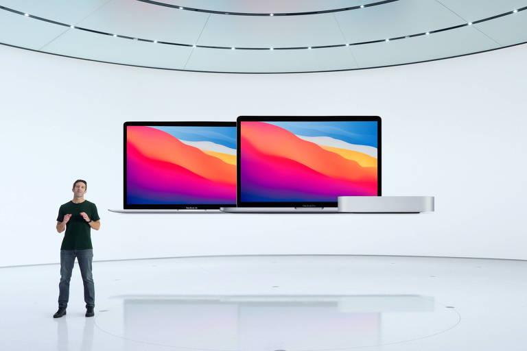 Apple anuncia novos Macs, os primeiros com processadores próprios