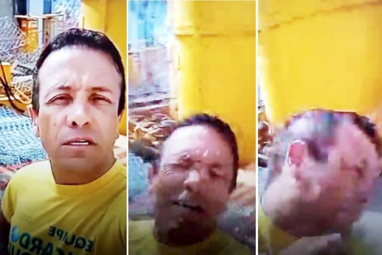 O candidato a vereador Ricardo Moura (PL)