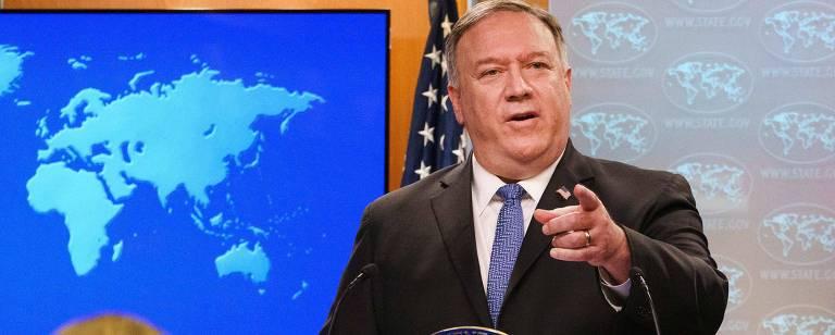 O secretário de Estado norte-americano, Mike Pompeo