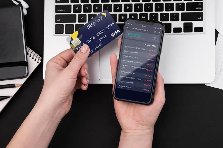 Cartão adiantamento da Paytrack
