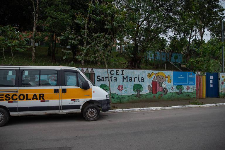 Creche conveniada no Jardim Novo Parelheiros, em São Paulo