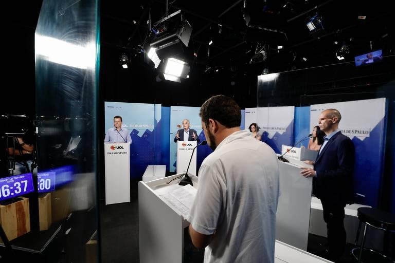 Veja fotos do debate Folha/UOL com candidatos a prefeito de SP