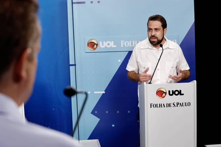 Debate entre os candidatos a prefeito de São Paulo,  Bruno Covas (PSDB), Celso Russomanno (Republicanos), Guilherme Boulos (PSOL) e Márcio França (PSB) realizado no UOL