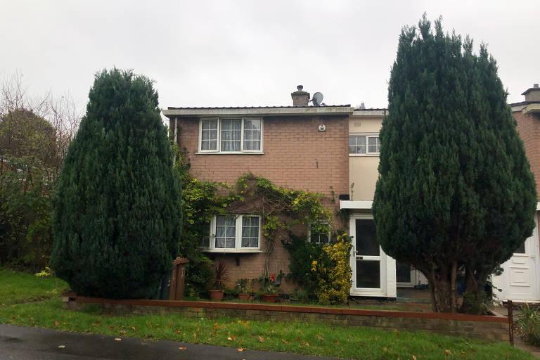 Casa onde Lewis Hamilton morou quando criança, na Peartree Way, em Stevenage