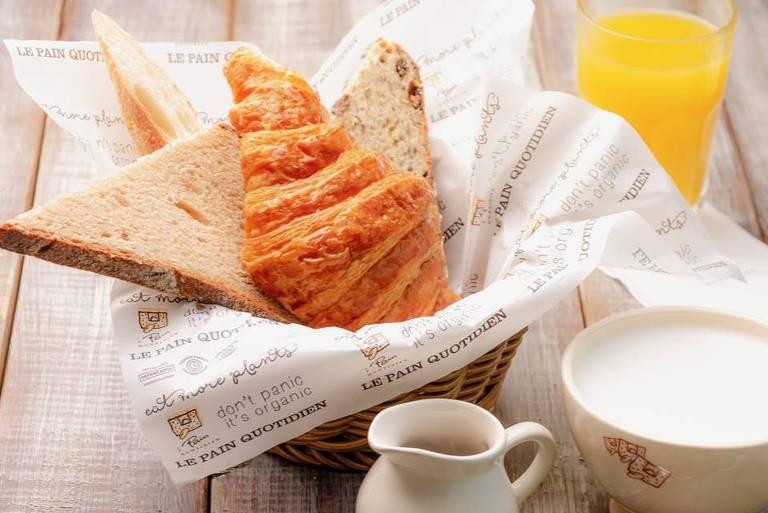 Combo individual de café da manhã da Le Pain Quotidien
