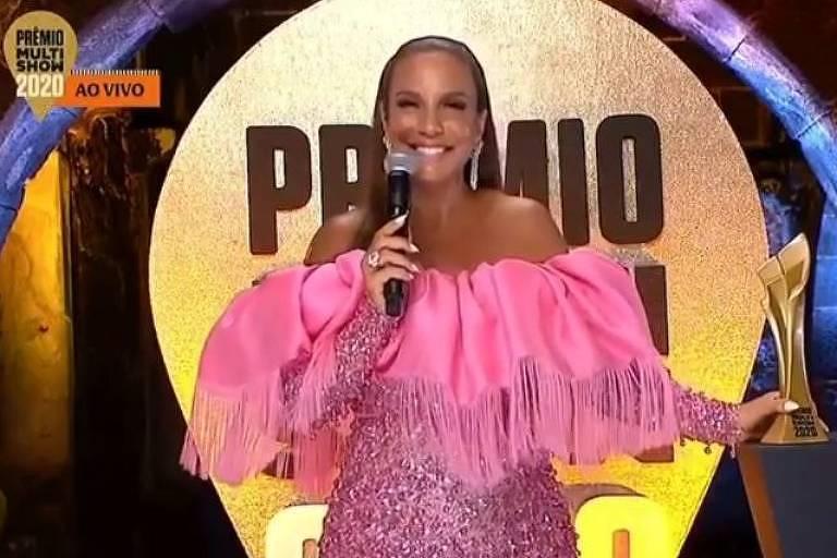 Ivete Sangalo se destaca no Prêmio Multishow 2020; veja os looks