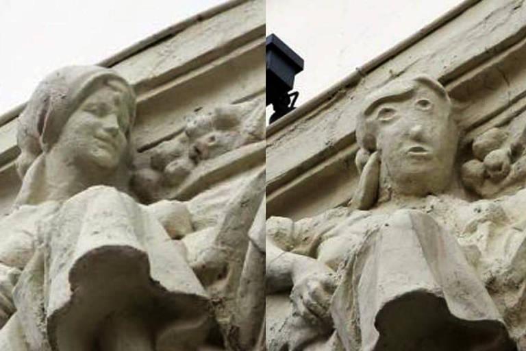Obra restaurada na cidade de Palência, na Espanha