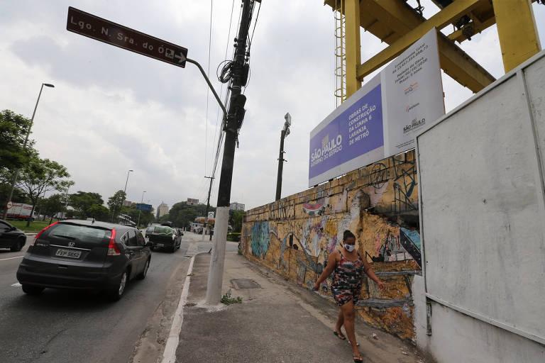 Um mês depois de anúncio da retomada, obras da linha 6 do metrô não avançaram em alguns canteiros