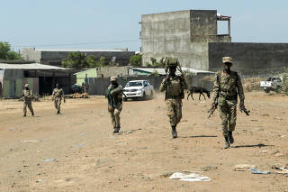 FILE PHOTO: Members of the Amhara Special Force return to the Dansha Mechanized 5th division Military base after fighting against the Tigray People's Liberation Front (TPLF), in Danasha, Amhara region near a border with Tigray