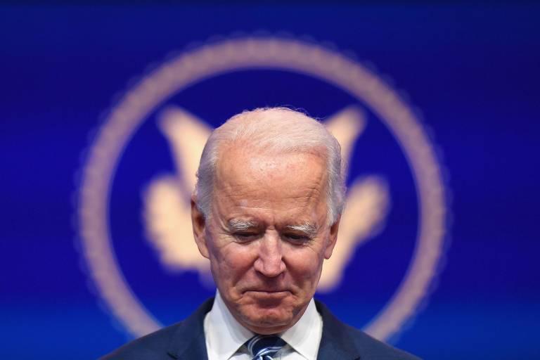 O presidente eleito dos EUA, Joe Biden, discursa em evento em Wilmington, no estado de Delaware