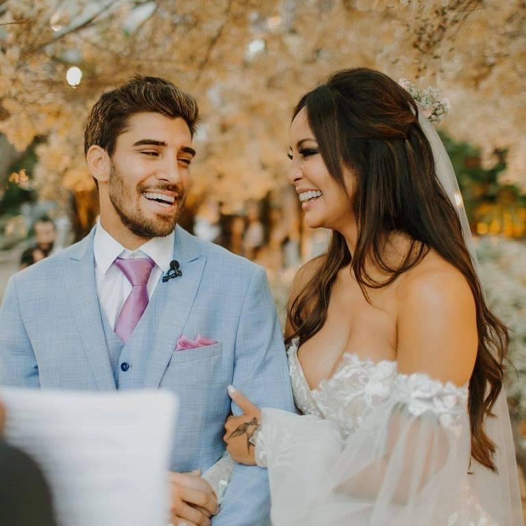 Carol Nakamura, casamento