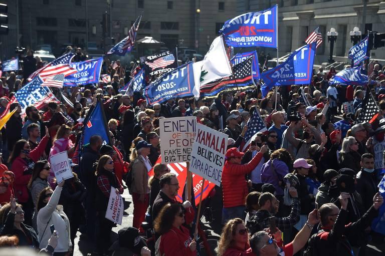 Veja imagens dos protestos a favor de Trump em Washington