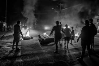 Protestos durante apagão em Macapá AP