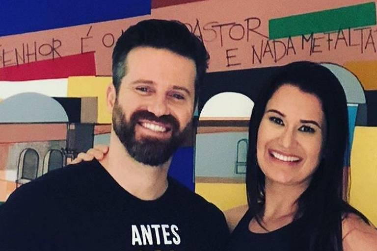 Marlon e a ex-mulher, Letícia Oliveira