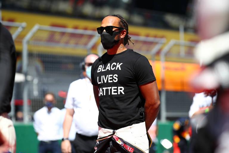 Protestos liderados por Lewis Hamilton na F-1