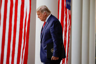 FILE PHOTO: U.S. President Trump delivers update on so-called Operation Warp Speed coronavirus treatment program in televised address from the Rose Garden at the White House in Washington