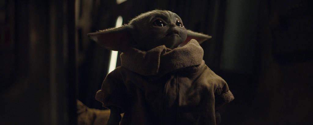 O pequeno Yoda em 'The Mandalorian'