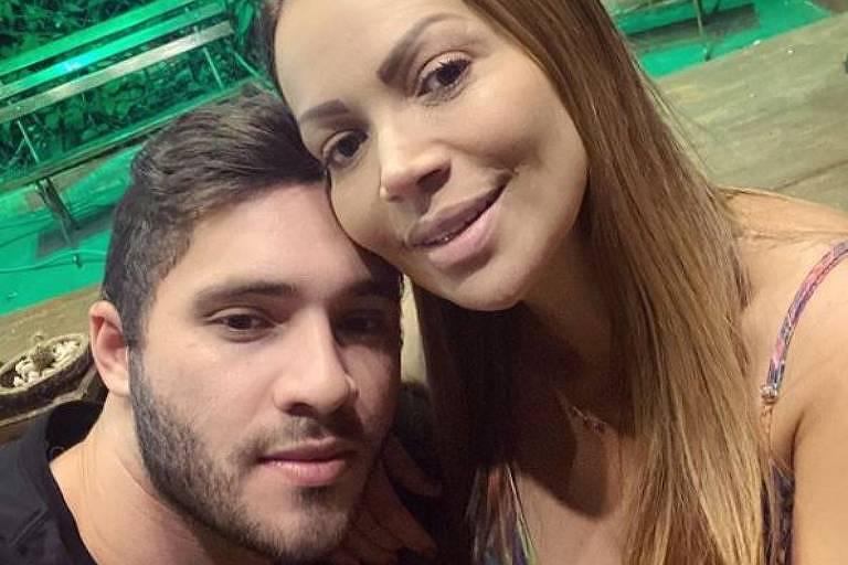 Solange Almeida e o namorado, Monilton Moura