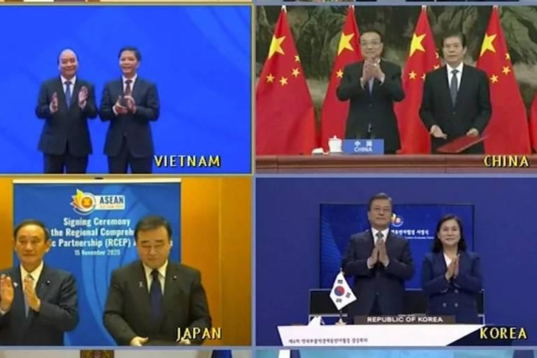 Sem Ocidente, China fecha 'maior acordo de livre comércio do mundo'