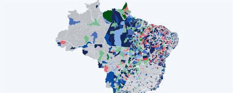 mapa de apuração eleições 2020 21h30