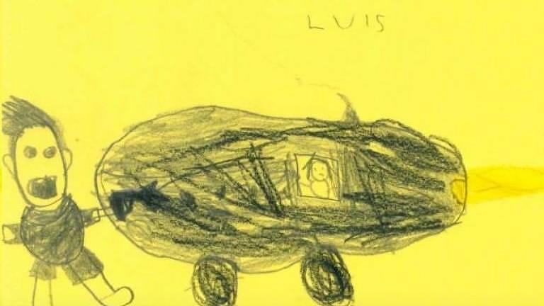 Luis também retratou a cena; polícia agora tenta encontrar motorista fugitiva