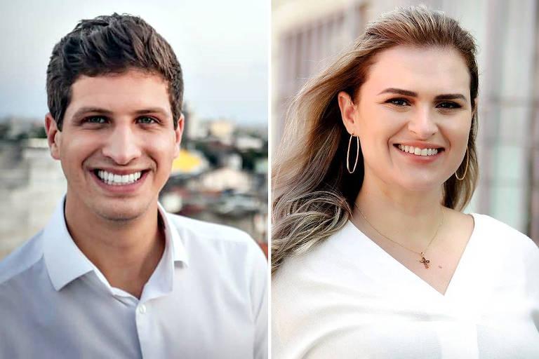 Os candidatos João Campos e Marília Arraes