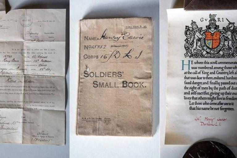 Carta em mala abandonada revela história de pai e filho mortos em campos de batalha na 1ª Guerra