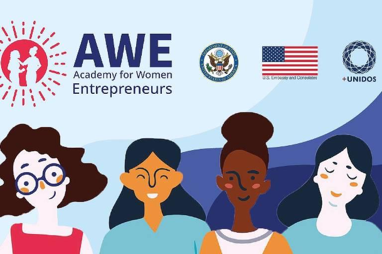 A Embaixada e Consulados dos EUA no Brasil, em parceria com o Grupo +Unidos, lança a Academia para Mulheres Empreendedoras (AWE Academy For Women Entrepreneurs, na sigla em inglês)