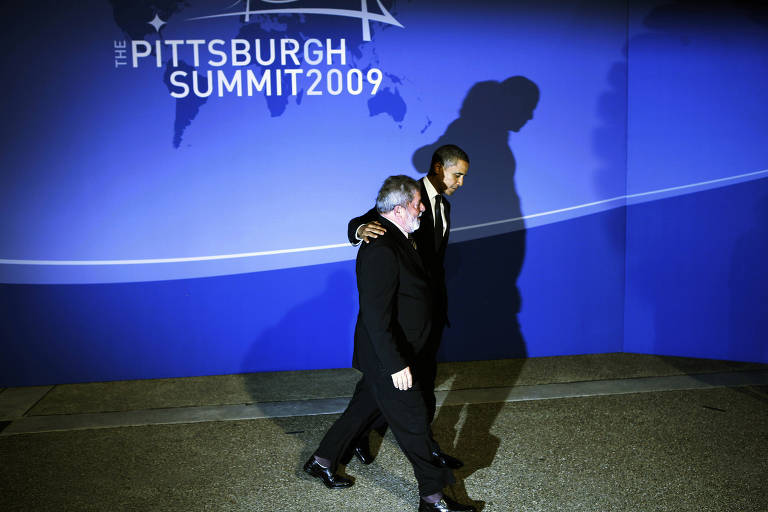 President Barack Obama welcomes President President Luiz Inacio Lula da Silva of Brazil to the Group of 20 summit meeting in Pittsburgh, Pa., on Sept. 24, 2009. (Doug Mills/The New York Times)