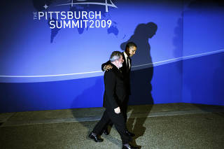 President Barack Obama welcomes President President Luiz Inacio Lula da Silva of Brazil to the Group of 20 summit meeting.