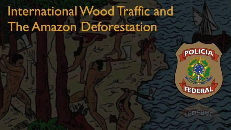 Imagem de índios cortando pau-brasil que ilustrou apresentação da PF