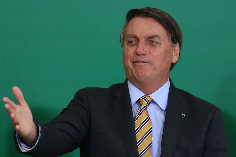 O presidente Jair Bolsonaro (sem partido) no Palácio do Planalto nesta última terça-feira (17)