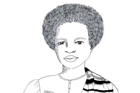 Esperança Garcia, negra escravizada que foi reconhecida como primeira advogada do Piauí. Ilustração Valentina Fraiz