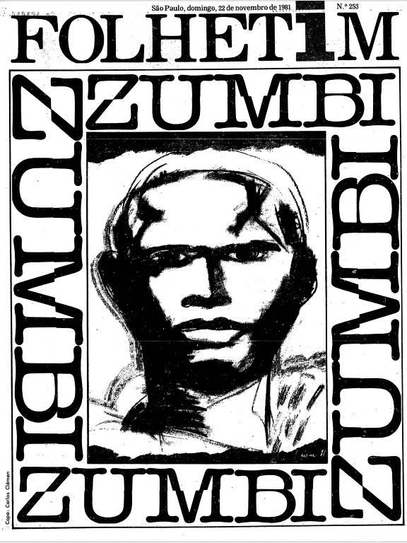 capa com ilustração de zumbi dos palmares