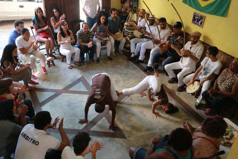 Roda de capoeira na Casa mestre Ananias