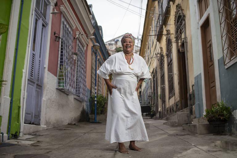 Mãe Celina de Xangô, do projeto educativo do Cais do Valongo, é gestora da região da Pequena África