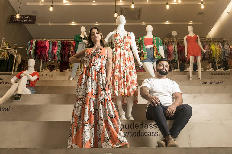 O casal Sirlene e Danilo Costa, donos da Dassi Boutique, na zona sul de São Paulo; lojas adotaram o cashback e conseguiram mais fidelização dos clientes