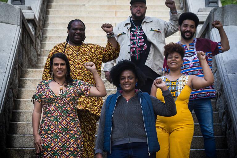 Elaine Mineiro e os integrantes do Quilombo Periférico