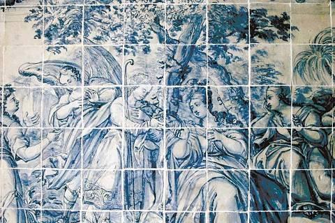 ORG XMIT: 405501_0.tif Azulejos coloniais portugueses da Igreja de Nossa Senhora da Glória do Outeiro, após a restauração, no bairro da Glória, zona sul do Rio de Janeiro. (Divulgação/BNDES)