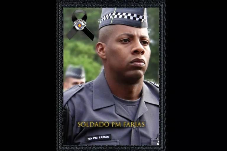 foto de policial militar negro de SP morto por bandidos